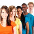 Foto Stock: Group of young multiracial