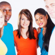 Multiracial group hug - Foto Stock