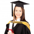 Beautiful female graduate — Stock Photo #10423205