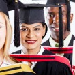 Foto Stock: Group of college graduates