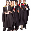 Stock Photo: Group of graduates full length portrait