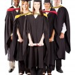 Group of diverse graduates — Stock Photo