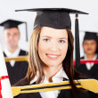 Beautiful university student at graduation — Stock Photo