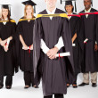 Stock Photo: Graduates at graduation