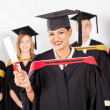 Female indian graduate — Stock Photo