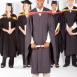 African male graduate — Stock Photo
