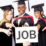 Graduates grab job — Stock Photo