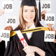 Stock Photo: Graduate with job offers