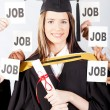Graduate with job offers - Stock Photo