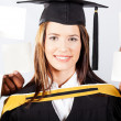 Attractive female university graduate — Stock Photo