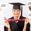 Female indian graduate with job offers — Stock Photo #10423289