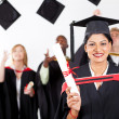Happy female indian graduate — Stock Photo