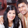 Closeup portrait of young indian couple — Stock Photo #10423414