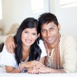 Stock Photo: Loving young indian couple