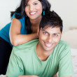 Joyful young indian couple — Stock Photo