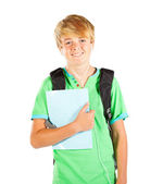 Male teen student — Stock Photo