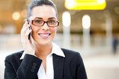 Businesswoman talking on cellphone — Stock Photo