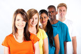 Group of young multiracial — Stock Photo