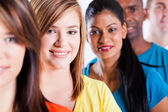Closeup portrait of group multiracial — Stock Photo