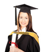 Beautiful female graduate — Stockfoto