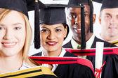 Group of college graduates — Stock Photo