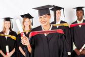 Female indian graduate — Stock Photo