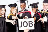 Graduates grab job — Stock Photo