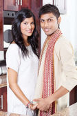 Young indian couple in traditional clothing — Stock Photo