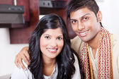 Closeup portrait of young indian couple — Stock Photo