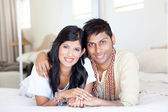 Loving young indian couple — Stock Photo