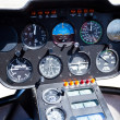 Helicopter instrument and control panel — Stock Photo