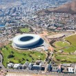 Aerial view of green point stadium, Cape Town — Stock fotografie
