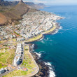 Aerial view of coast of Cape Town — Stock Photo #10469990