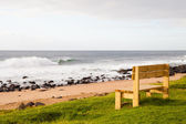 Beach bench — Stockfoto
