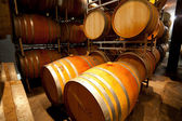 Wine cellar with barrels — Stock Photo