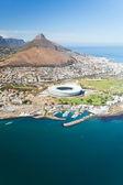 Cape town havadan görünümü — Stok fotoğraf