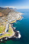 Aerial view of coast of Cape Town — Stock Photo