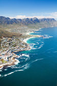 Aerial view of coast of Cape Town — Stok fotoğraf