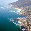 Overhead view of coast of South Africa - Stok fotoğraf