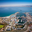Aerial view of cape town harbor — Stock Photo