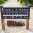 Cape Point GPS coordinates - Stock Photo