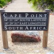 Cape Point GPS coordinates — 图库照片