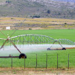 Farm field irrigation system - Stock Photo