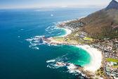 Cape town kıyı havadan görünümü — Stok fotoğraf
