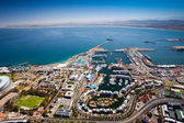 Aerial view of cape town harbor — Stok fotoğraf