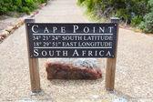 Cape point gps koordinatları — Stok fotoğraf