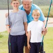 Grandpa and grandsons — Stock Photo