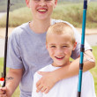 Fishing boys — Stock Photo