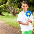 Stock Photo: Little boy with pinwheel