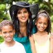 Beautiful mother and kids — Stock Photo #10516376